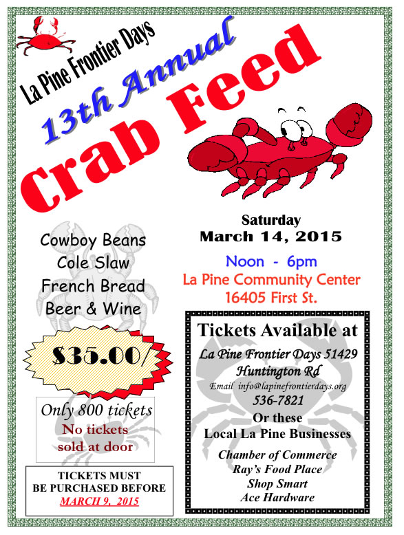 Crab Feed - La PIne Frontier Days